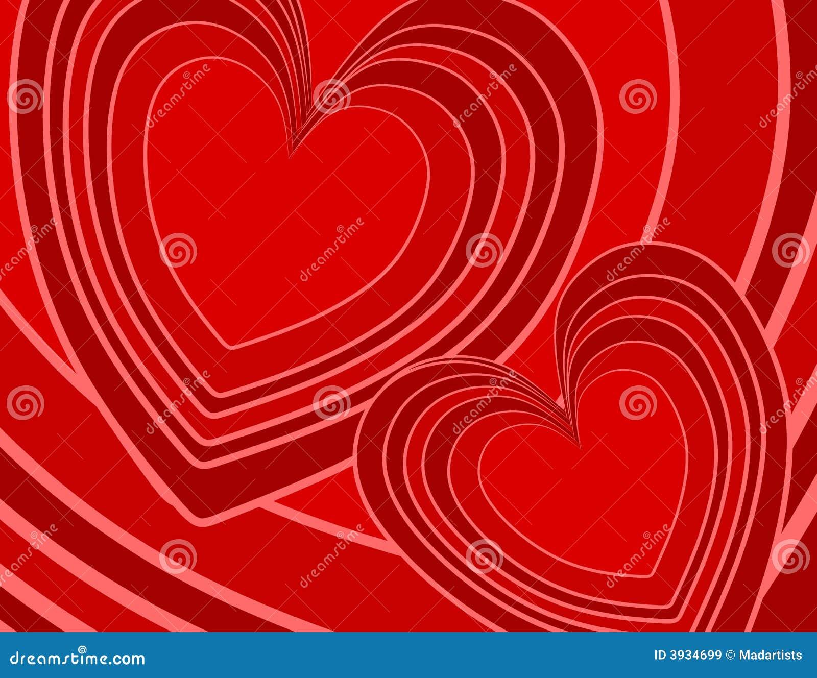 Rött retro för abstrakt bakgrundshjärtor