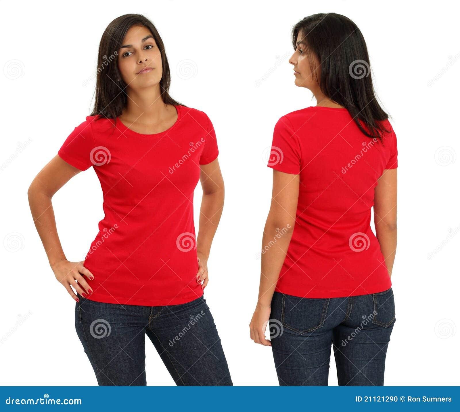 Rött skjortaslitage för blank kvinnlig