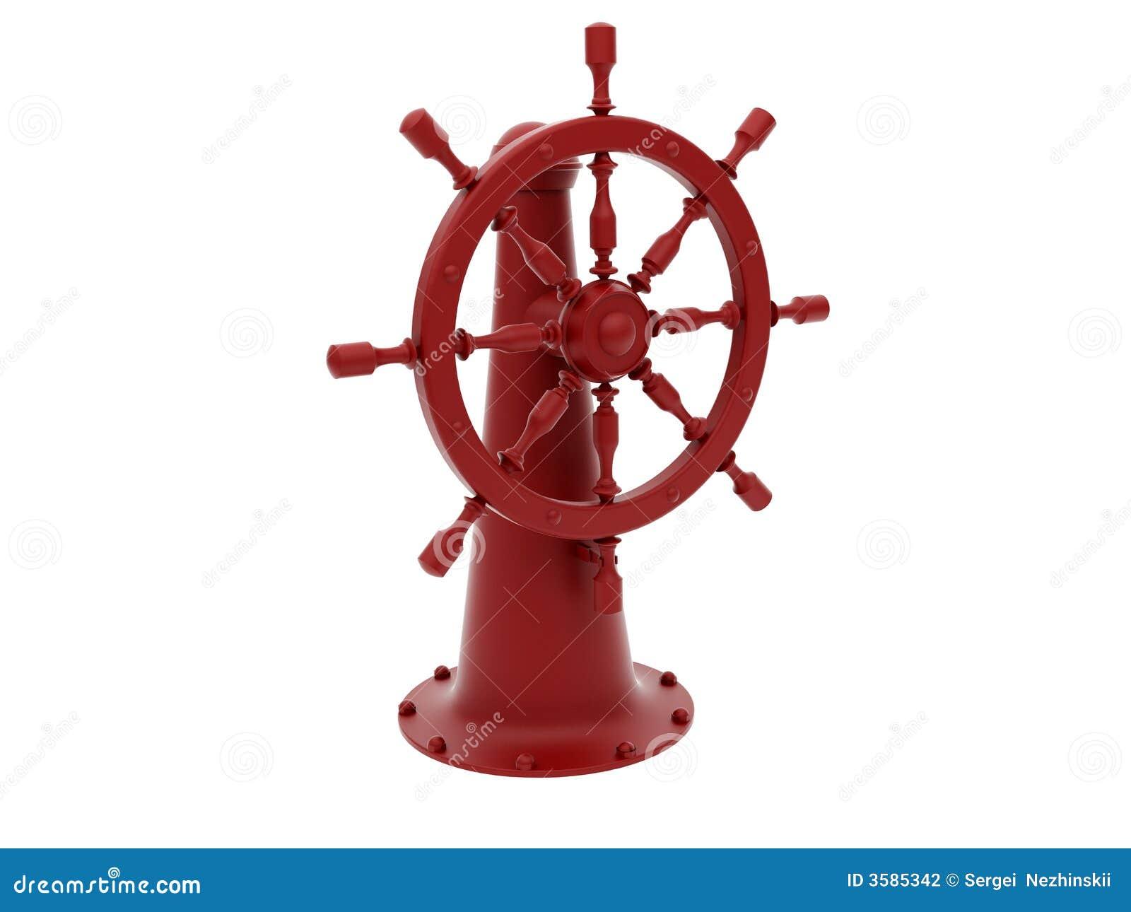 Rött styrningshjul