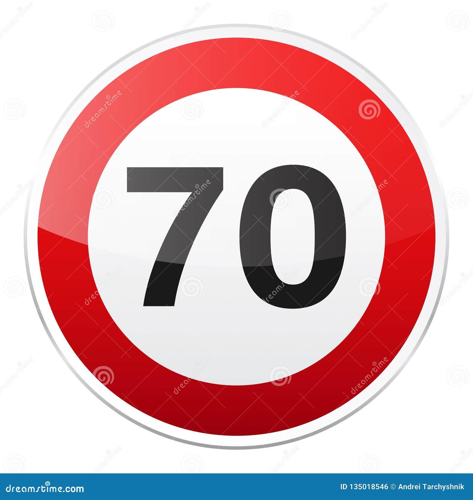 Rött tecken för väg på vit bakgrund Vägtrafikkontroll Grändanvändning Stopp och avkastning Reglerande tecken gata Hastighetsbegrä