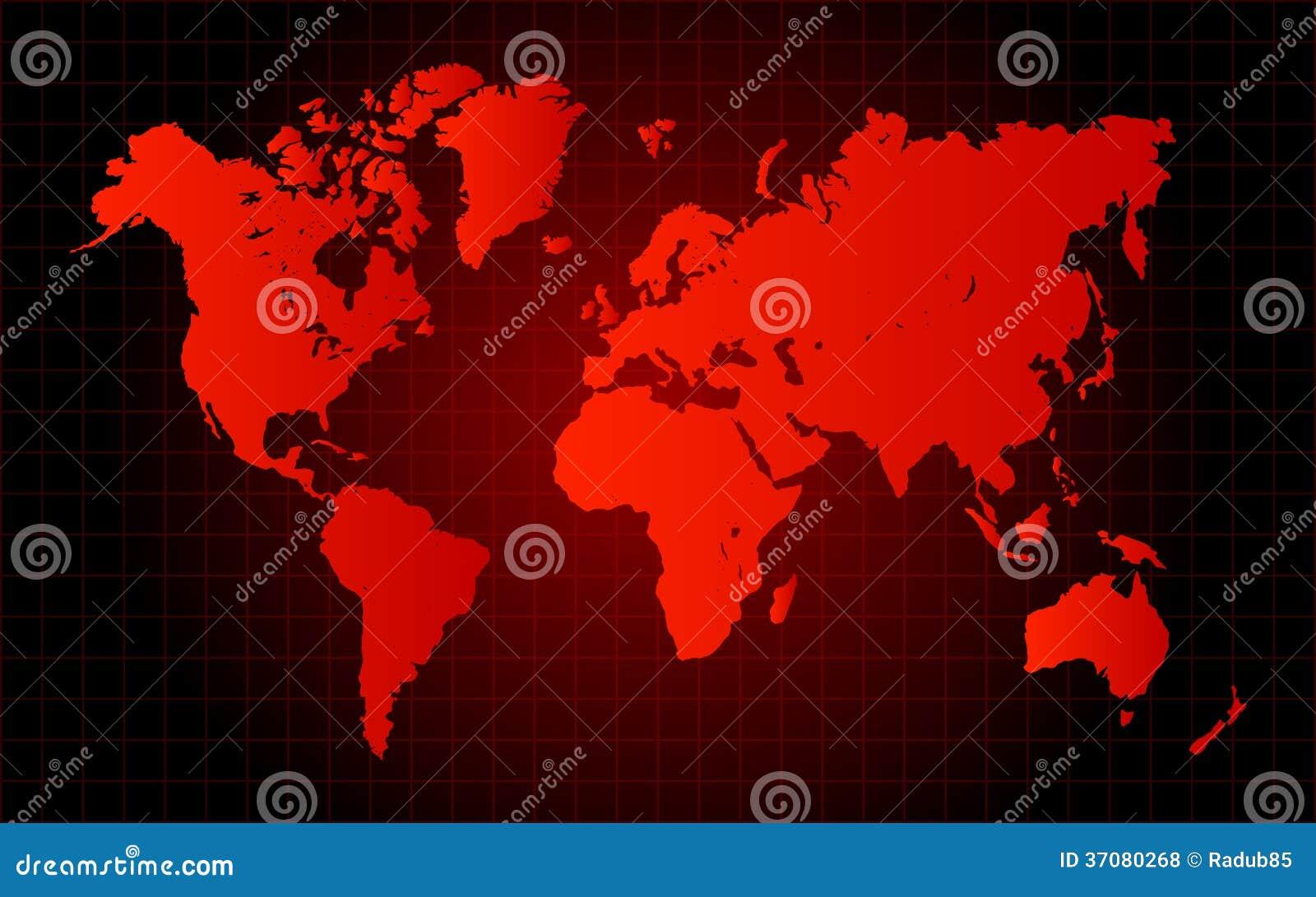Rött världskartafarabegrepp