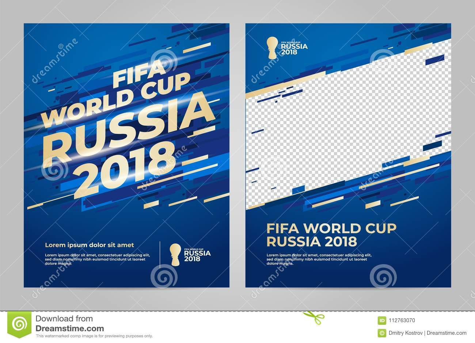 Rússia 2018 copos molde