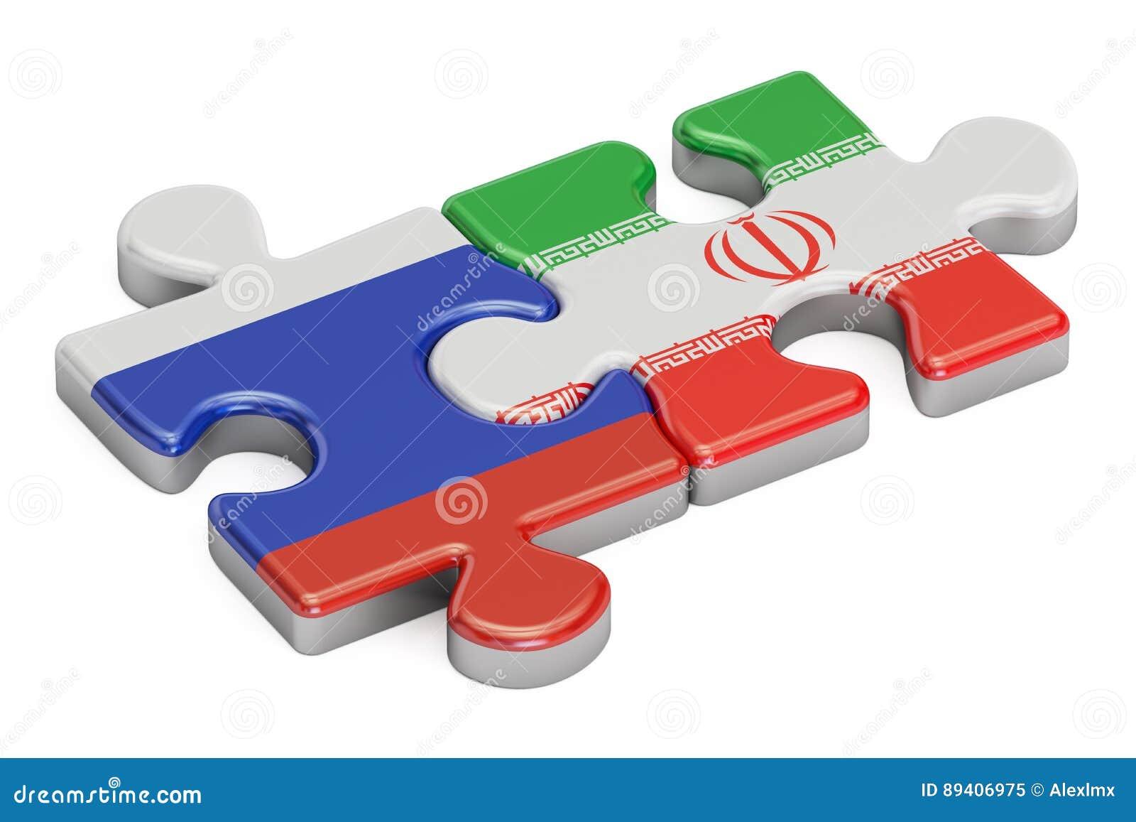 Rússia e Irã confundem das bandeiras, rendição 3D