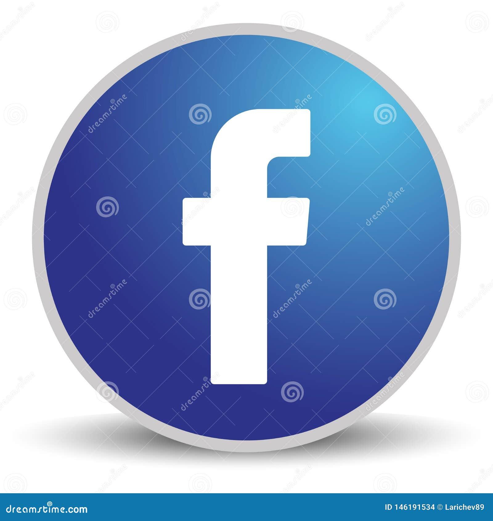 Rússia, Moscou - 29 de abril de 2019: Sinal do logotipo de Facebook no fundo branco Facebook ? um servi?o social conhecido dos tr