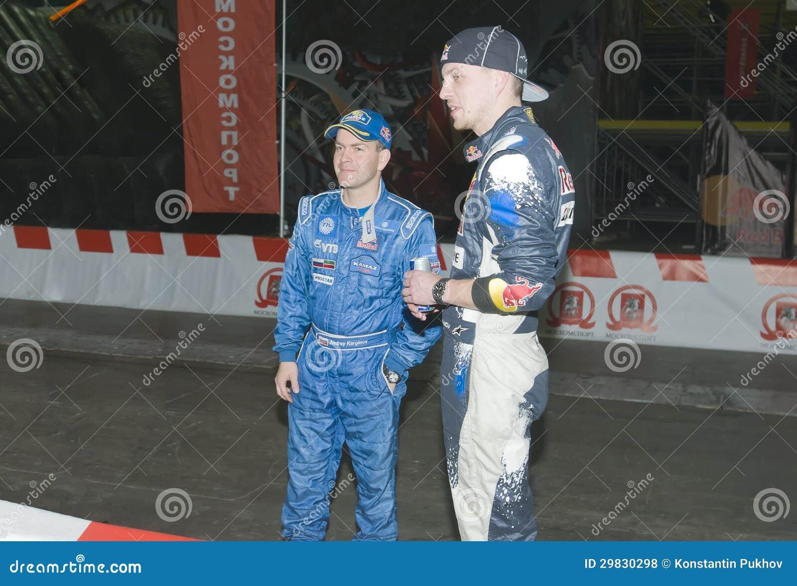 Motoristas de carro de corridas