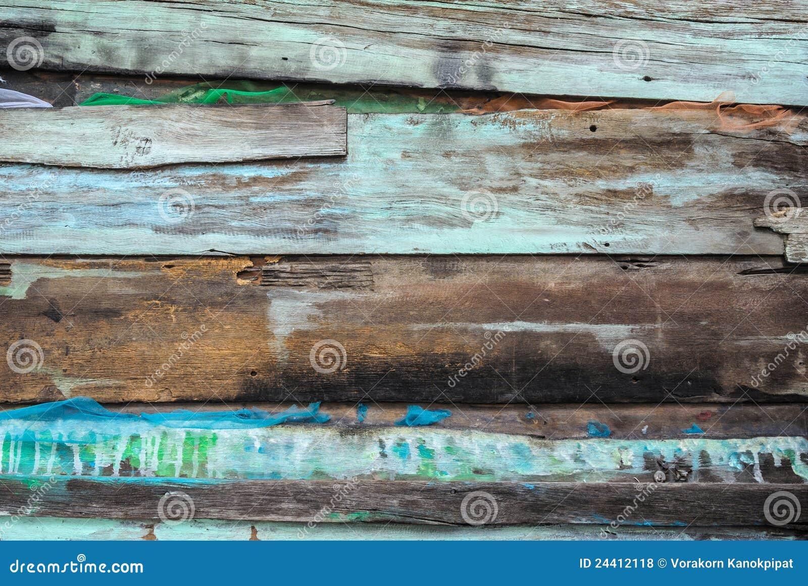 Rústico velho com o painel da madeira da cor do respingo
