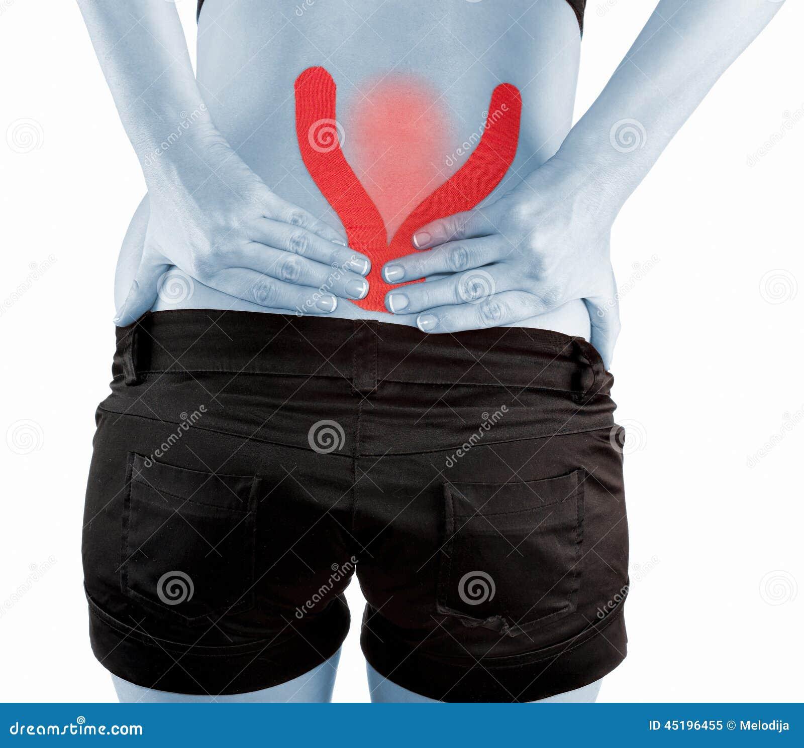 Rückenschmerzenfrau