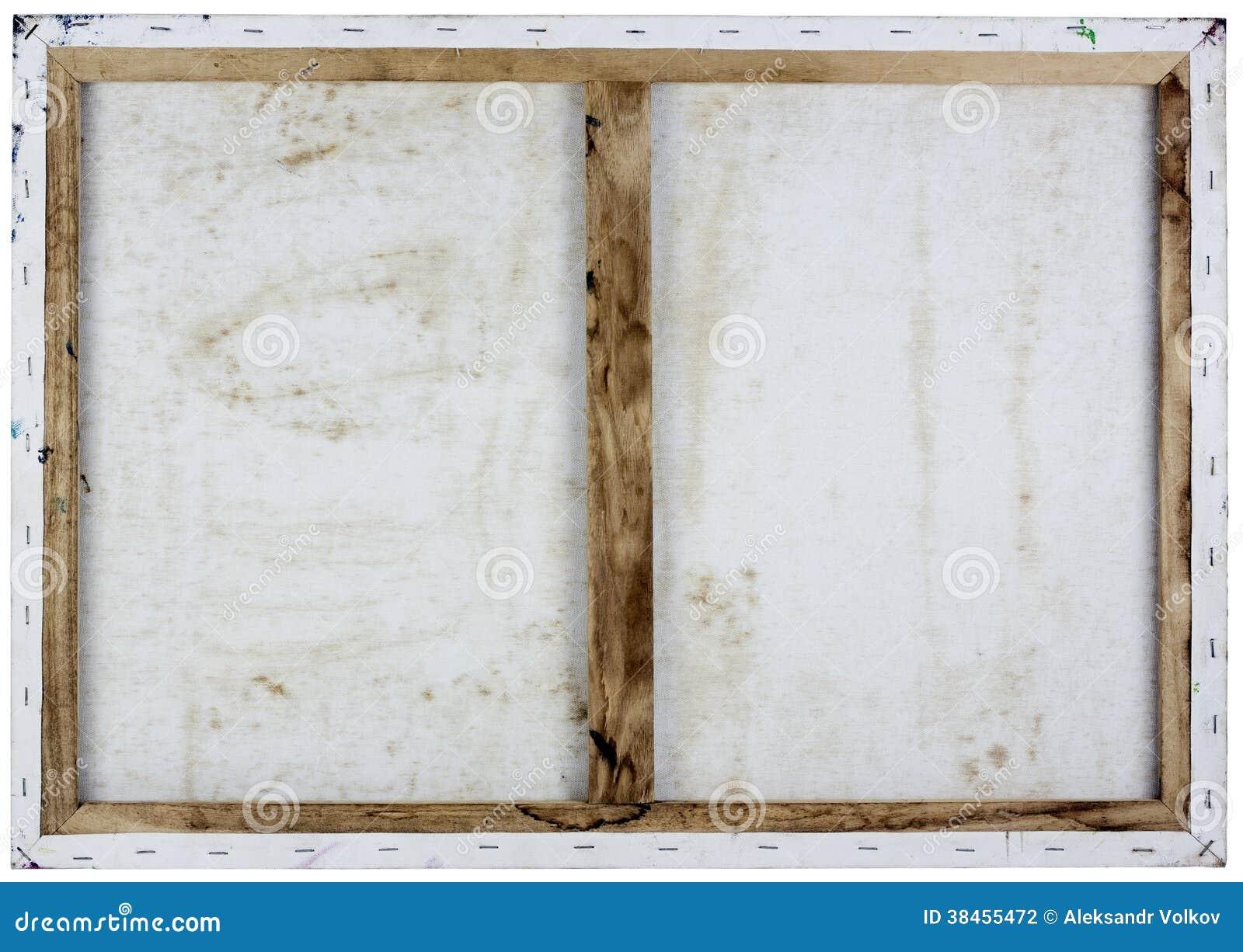 Rückseiteansicht des Segeltuches des Öls weiße