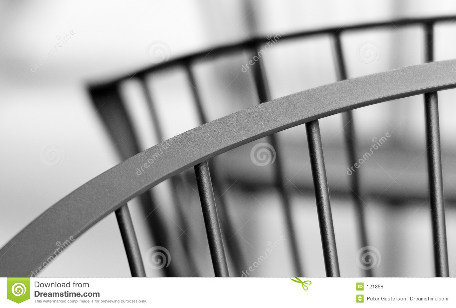 Rückseitige Kurven des Stuhls