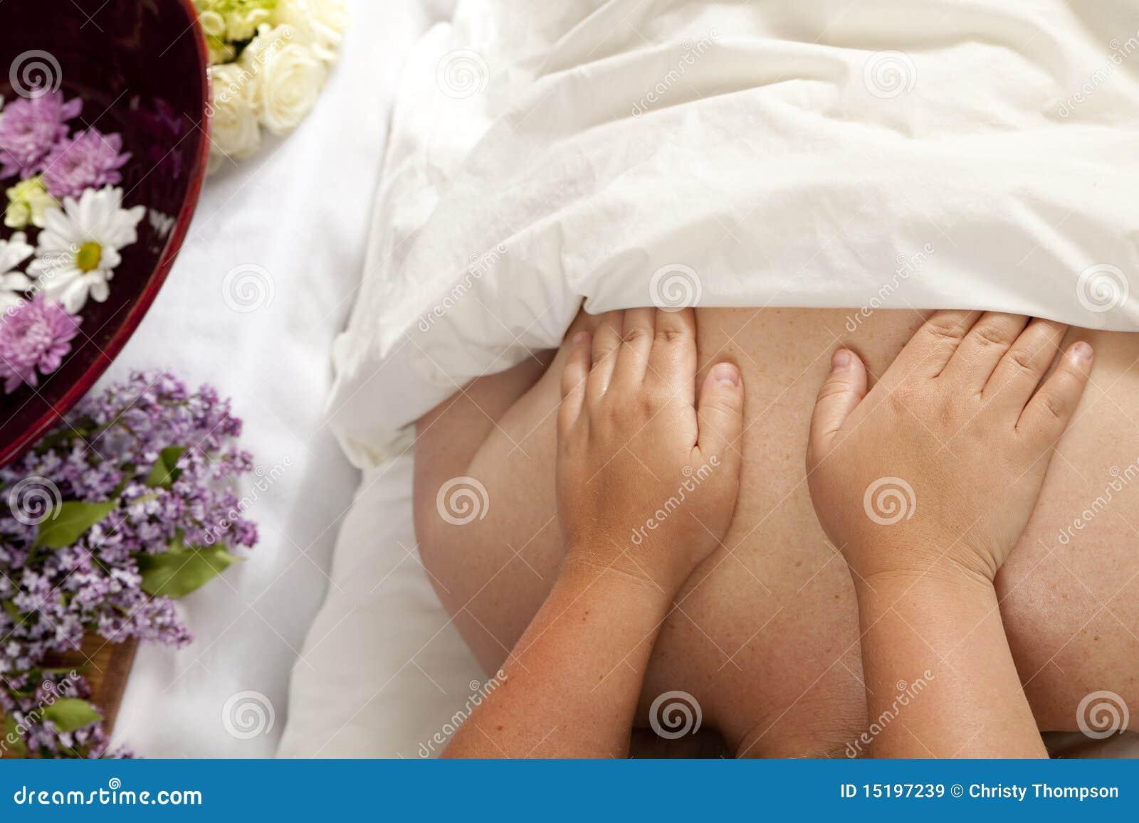 Rückseitige Massage