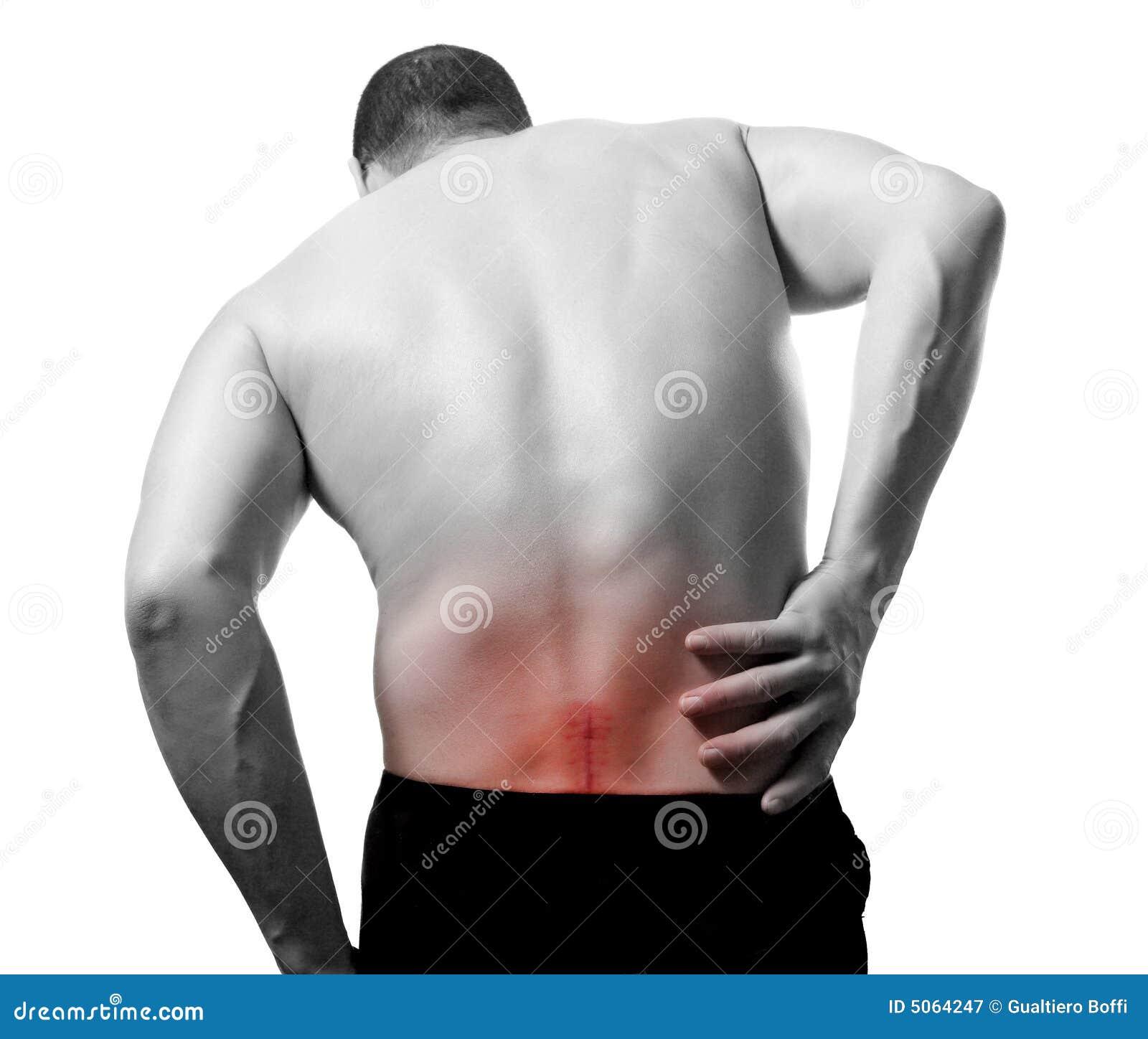Rückseitige Schmerz