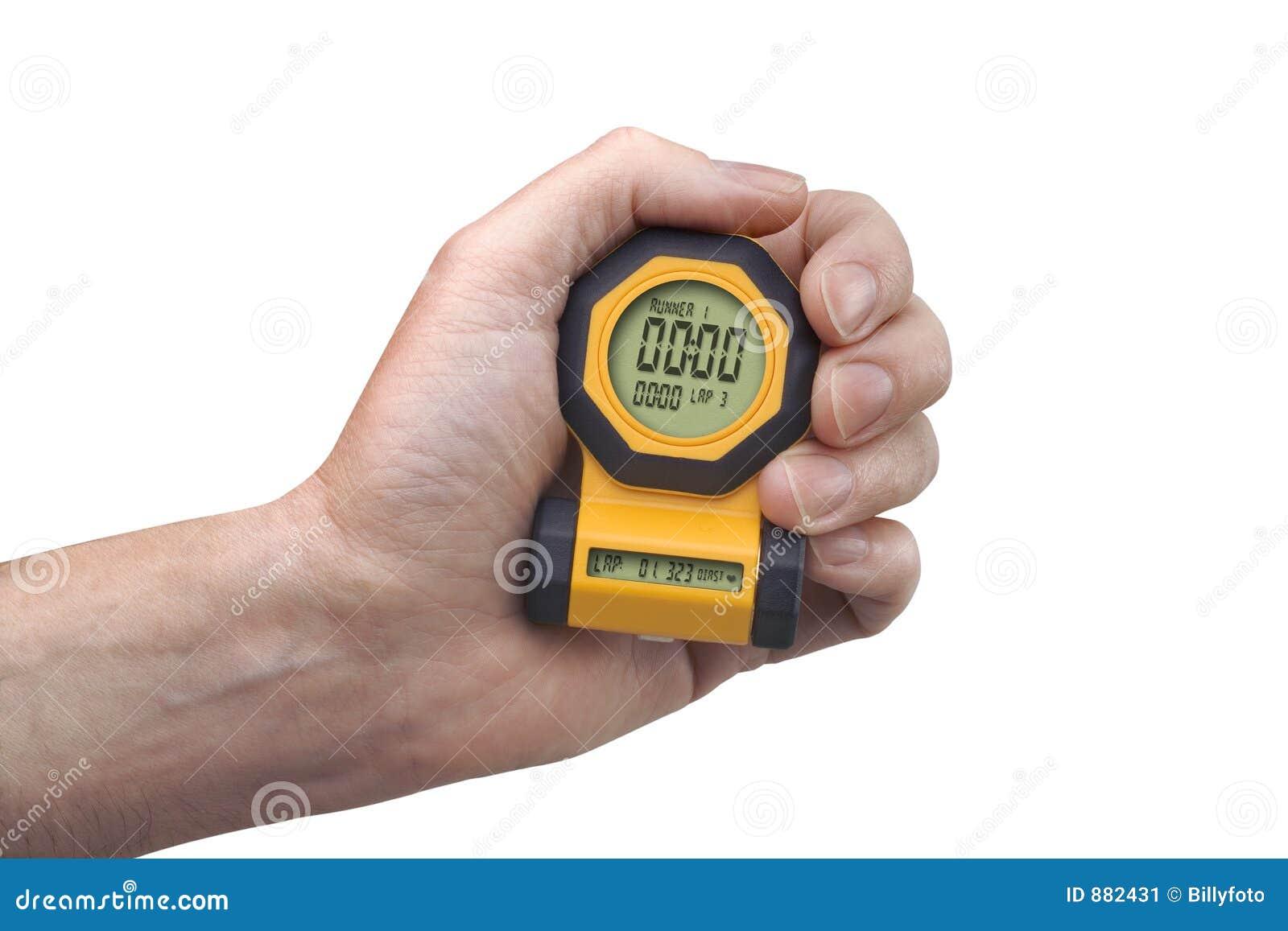 Ręce cyfrowego stoper