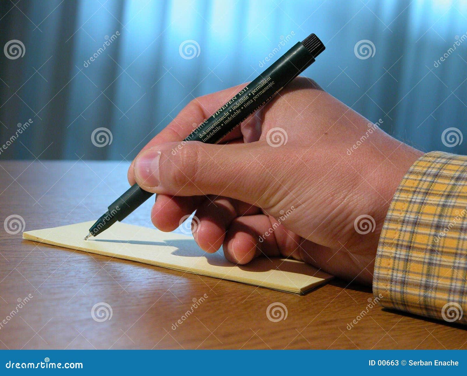 Ręce długopis