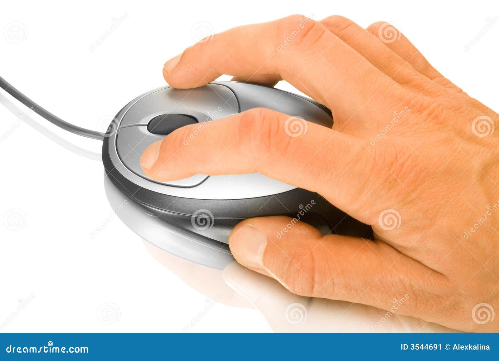 Ręce mysz komputerowa