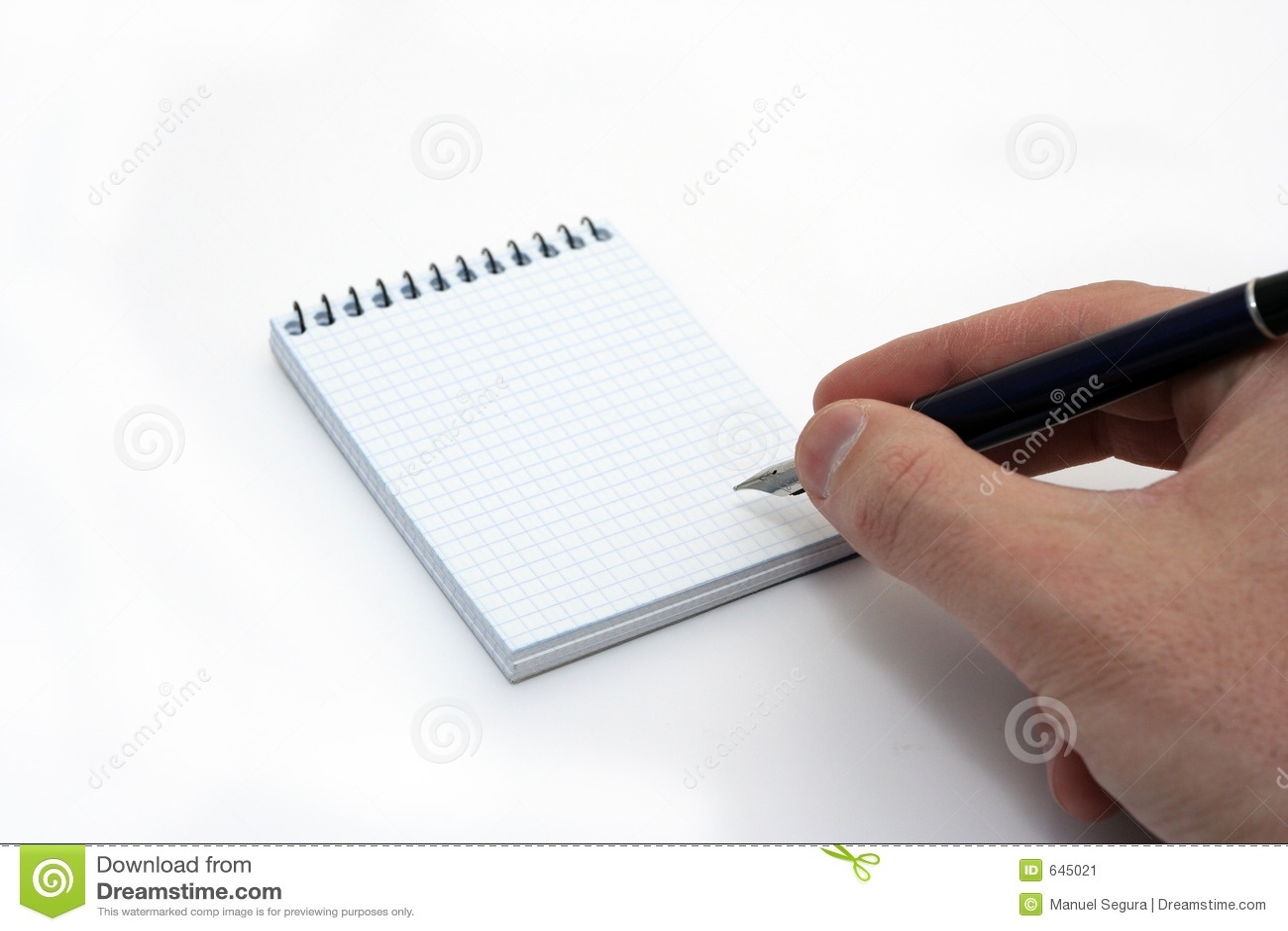 Ręce notepad