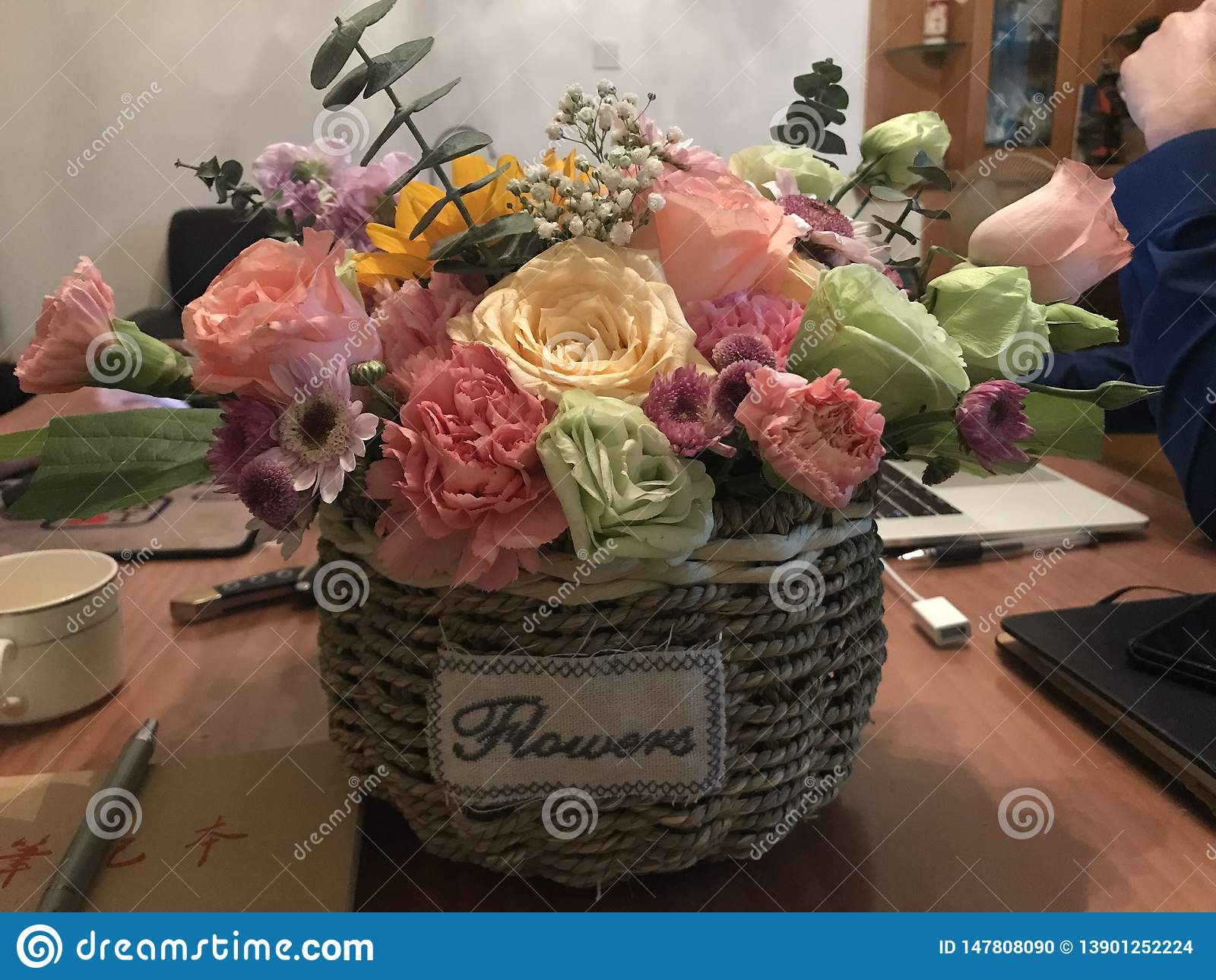 Ręcznie robiony kwiat
