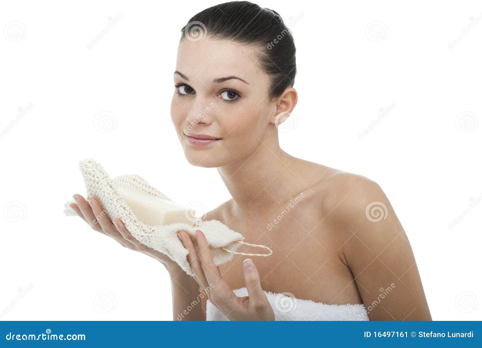 Ręcznikowa kobieta zawijający potomstwa