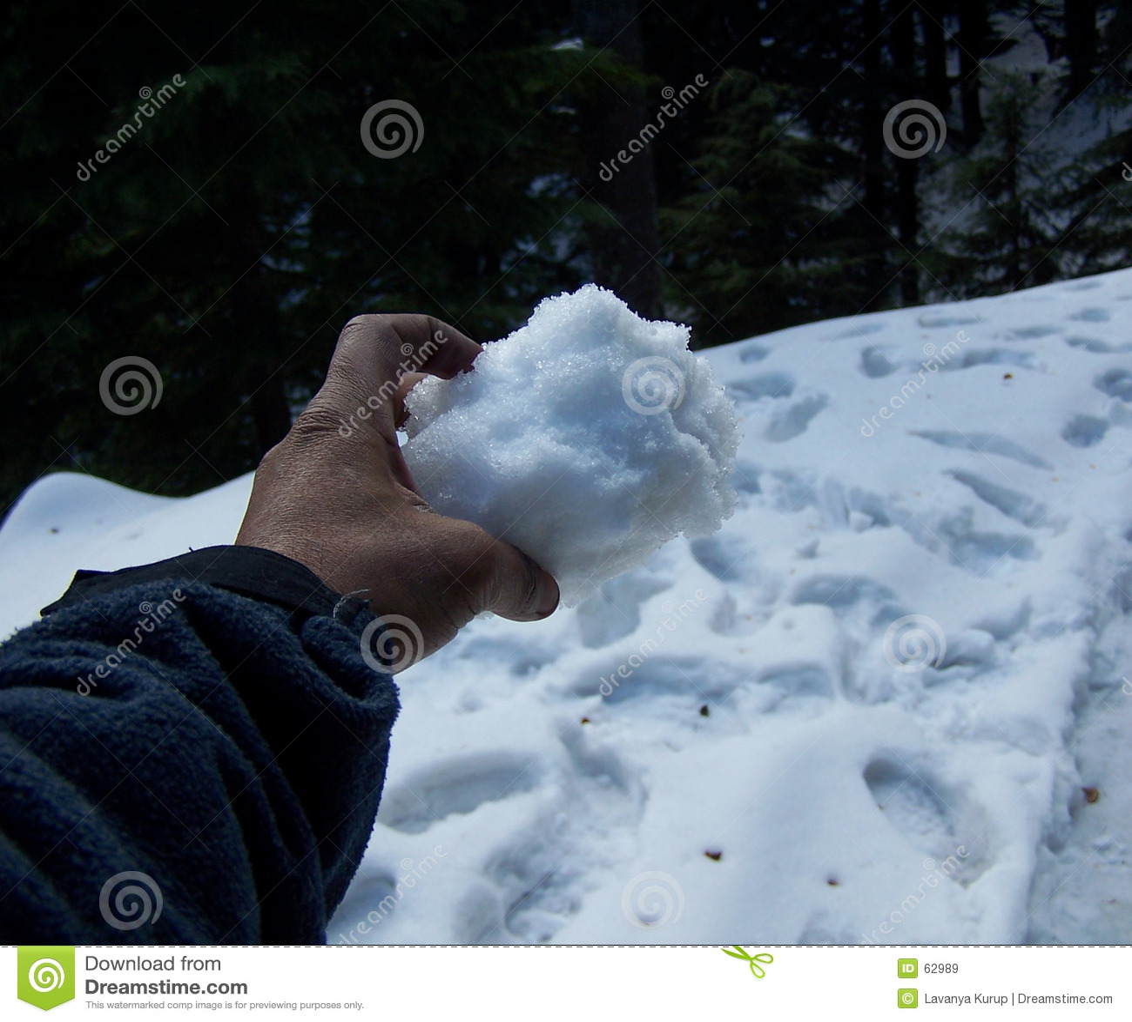 Ręka śnieg