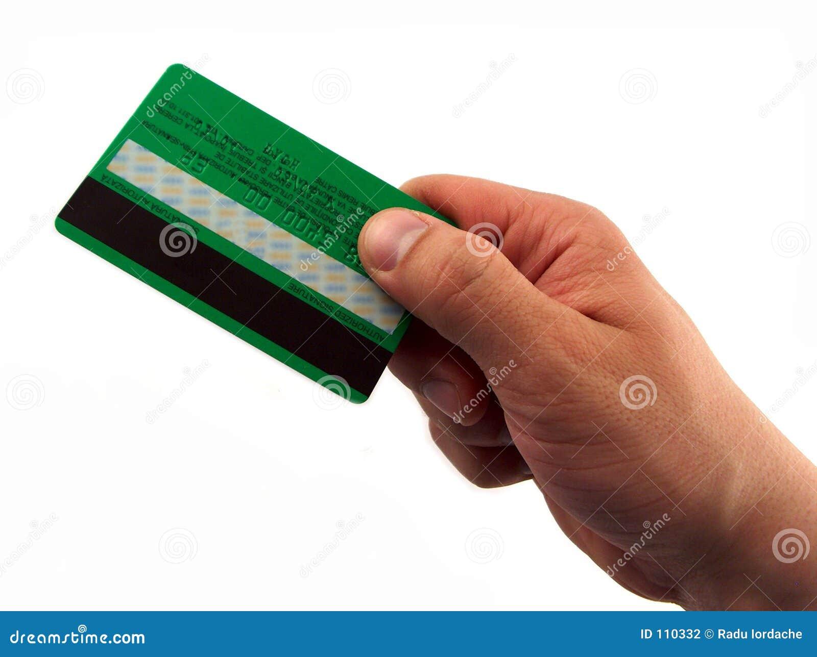 Ręka człowieka za karty,