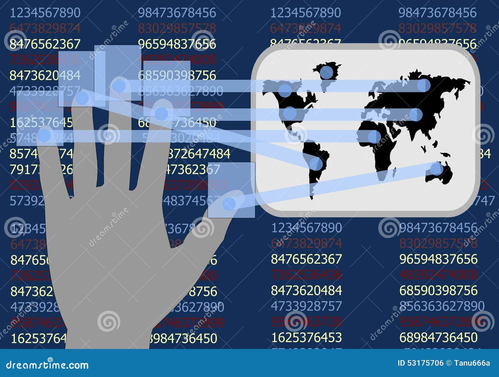 Ręka dotyka ekran pokazuje rozwój biznesy