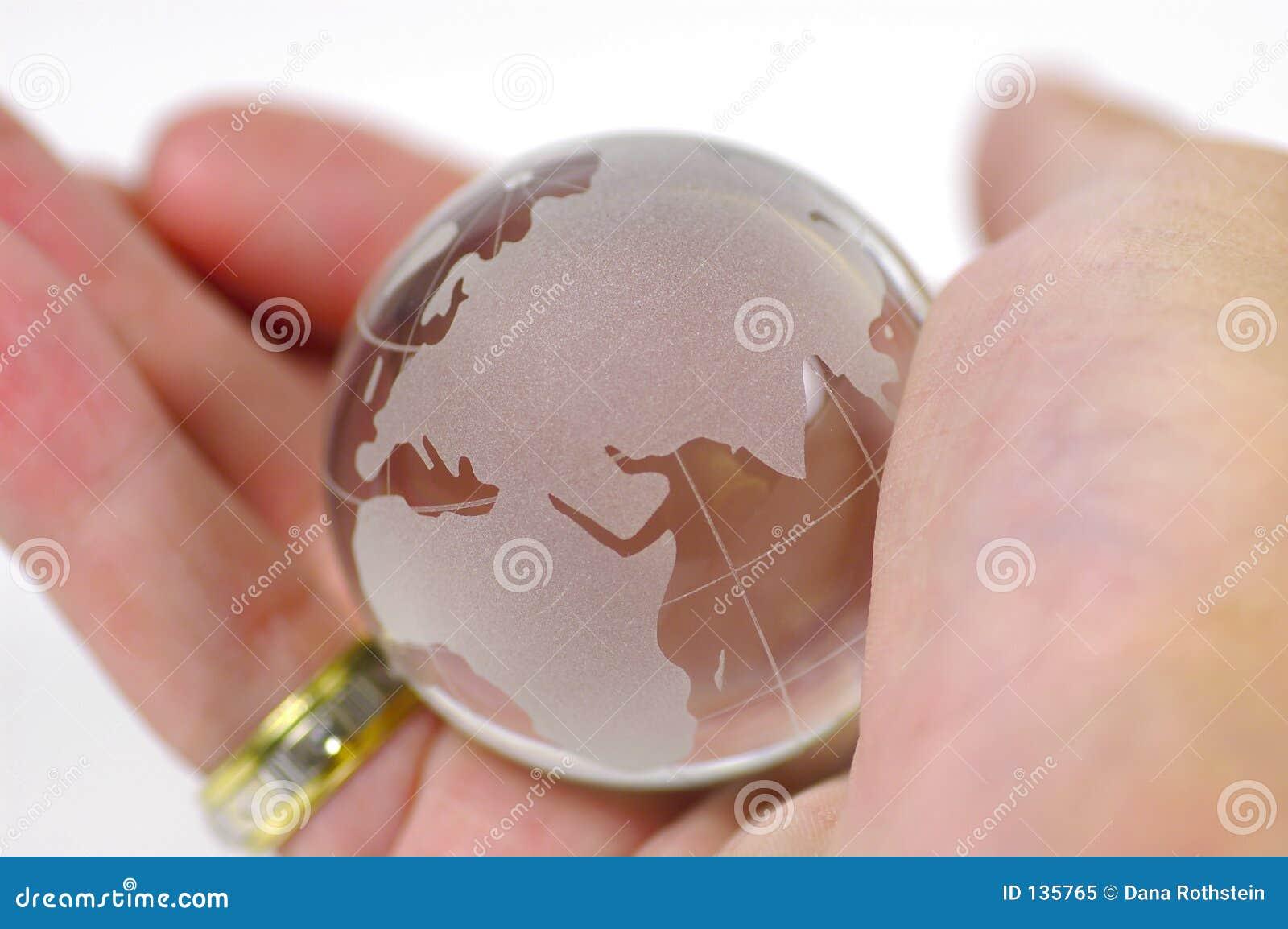Ręka globu