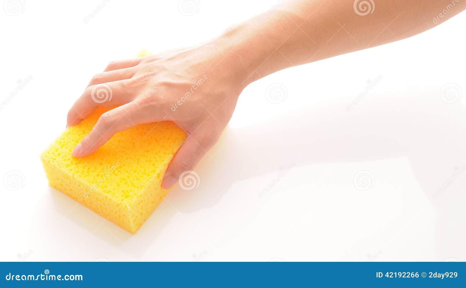 Ręka i gąbka