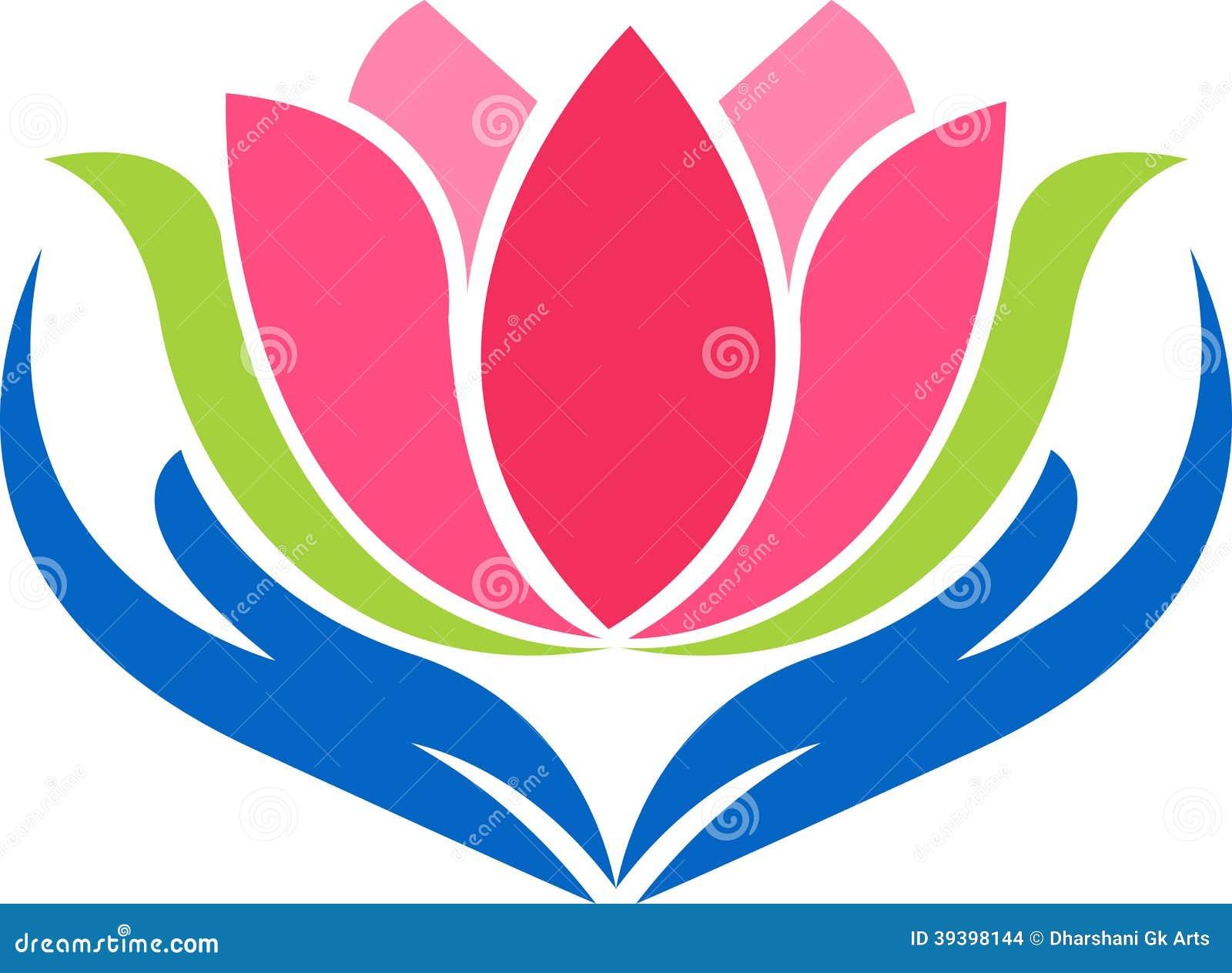 Ręka lotosu logo