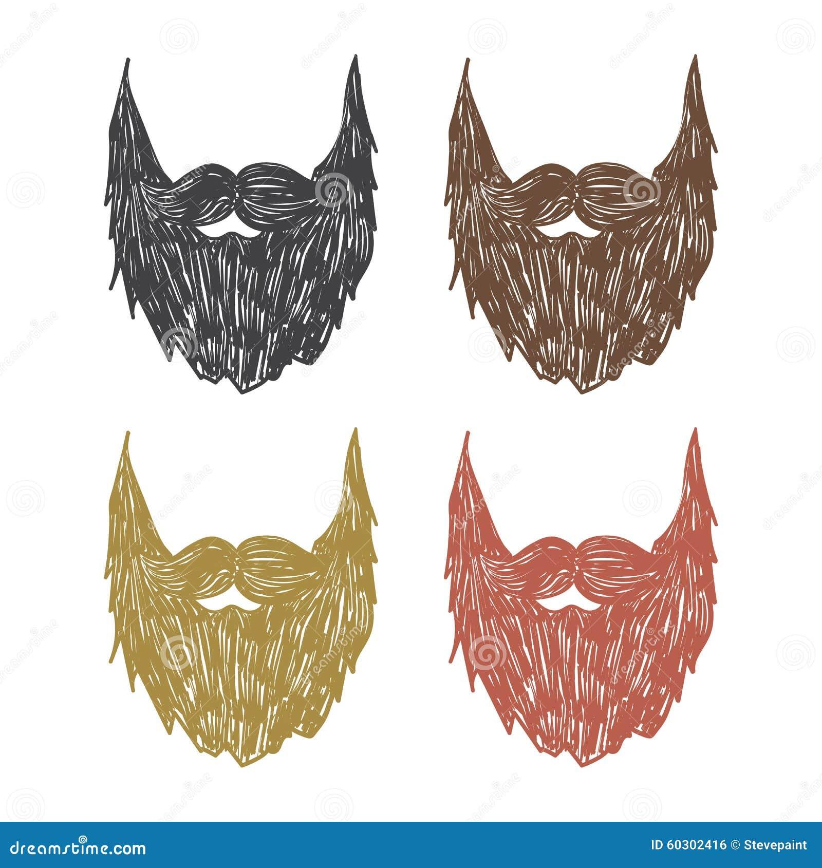 Ręka rysująca broda