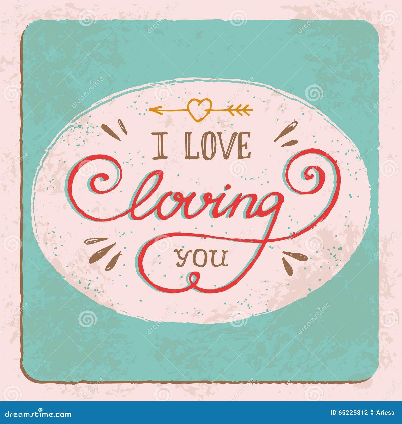 Ręka rysująca kocham kochać ciebie guote