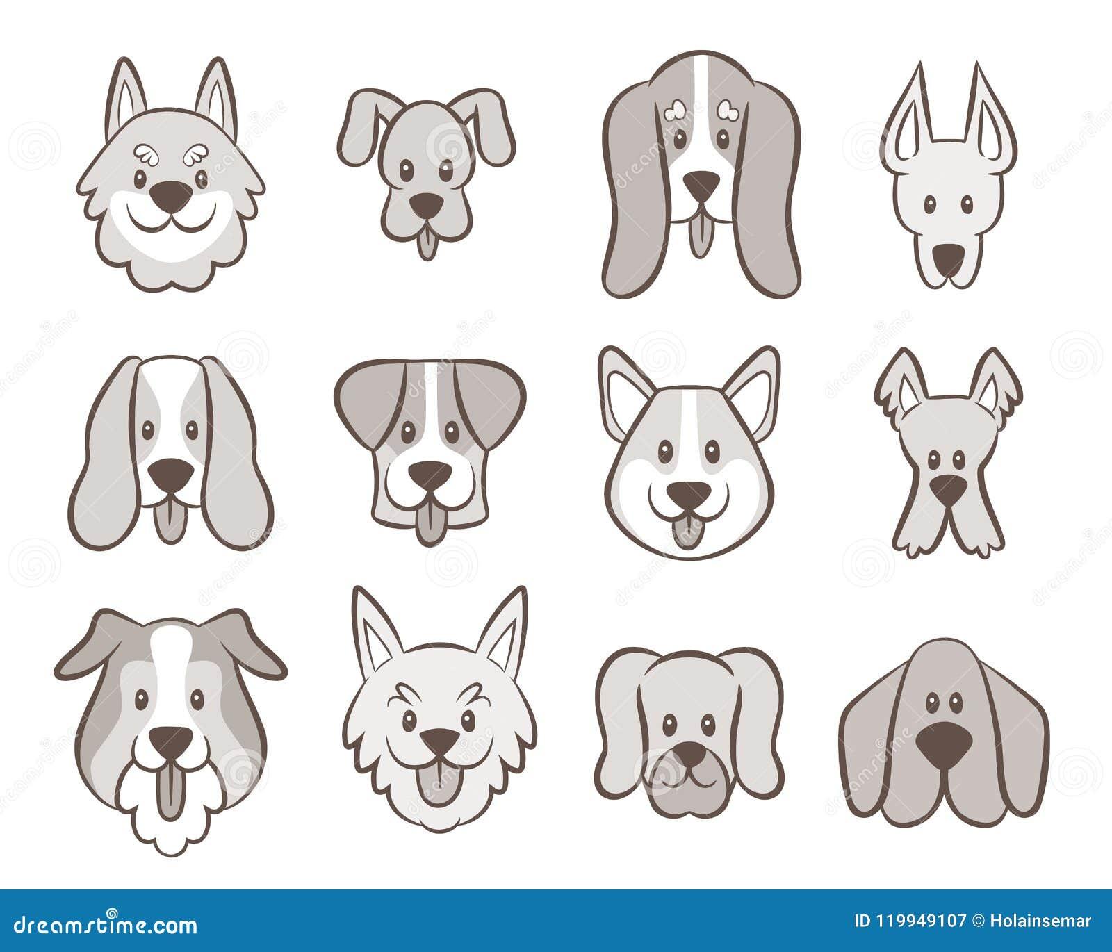 Ręka rysująca Psia Avatar kolekcja