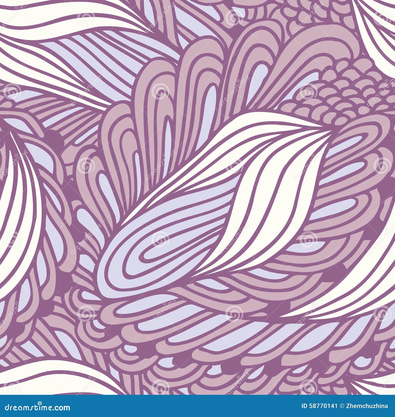 Ręka rysujący abstrakcjonistycznej mody bezszwowy wzór Doodle zawijasa tło Atramentu stylowy tło