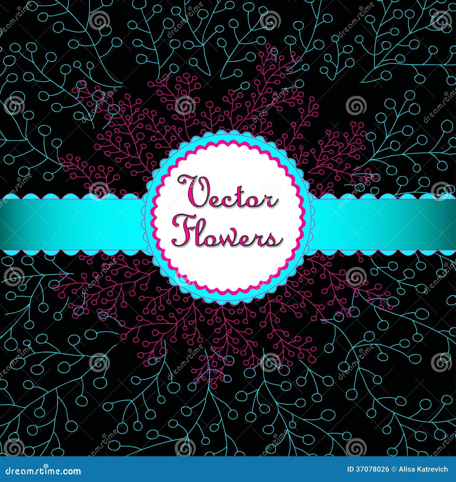 Download Ręka Rysujący Kwieciści Ornamenty. Ilustracja Wektor - Ilustracja złożonej z elegancja, element: 37078026