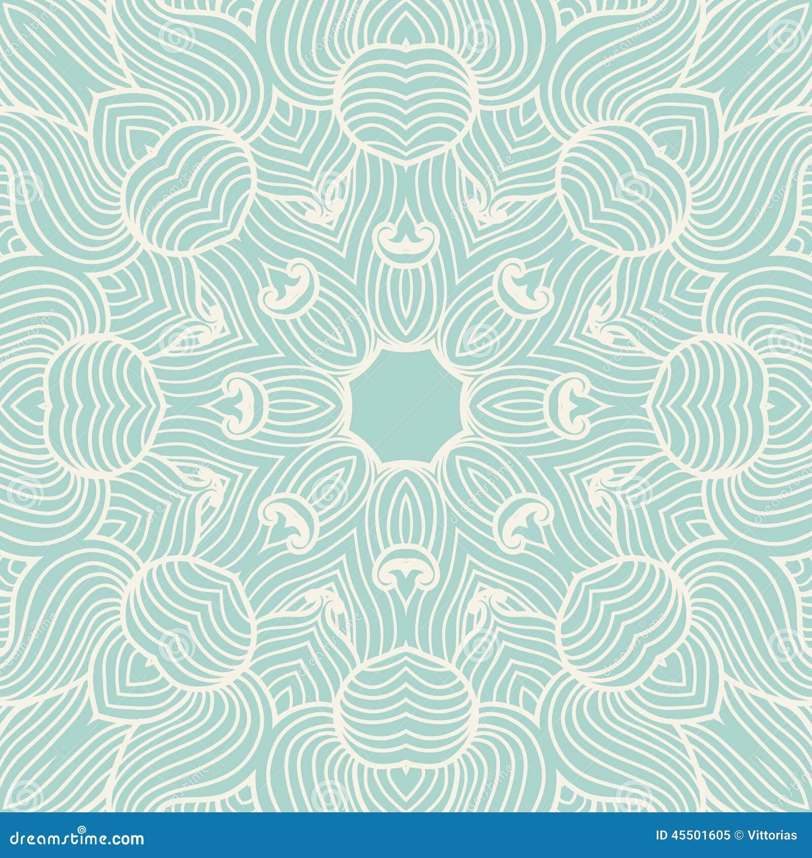 Ręka rysujący ornamentacyjny tło