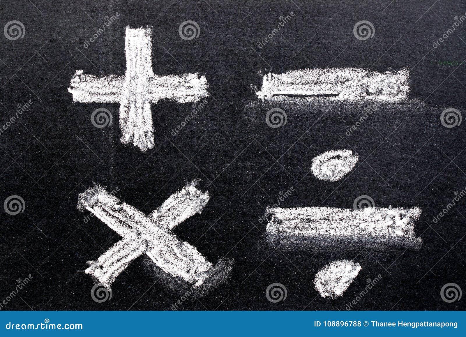 Ręka rysunek biel kreda w mathematics symbolu kształcie