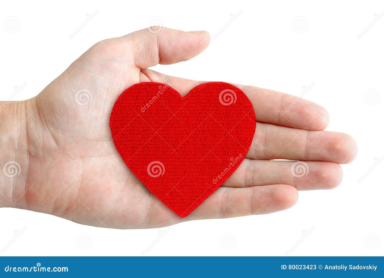 Ręka symbol kierowy czerwony