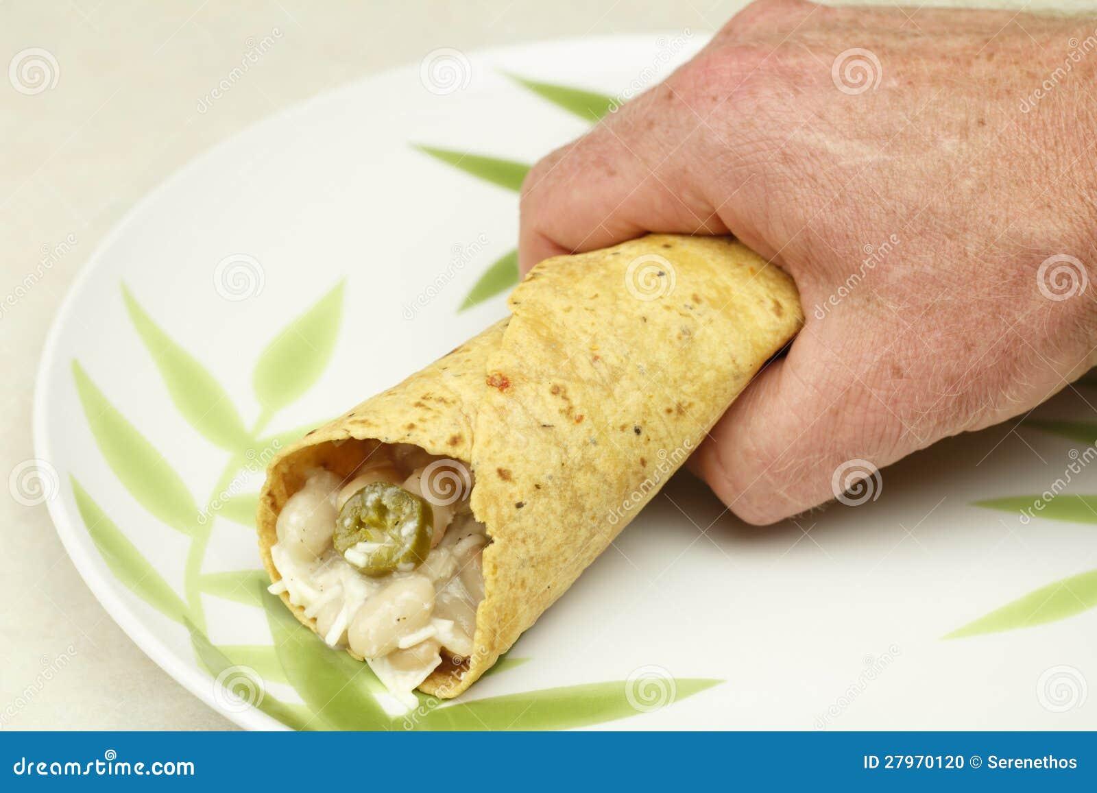 Ręka Trzyma Burrito
