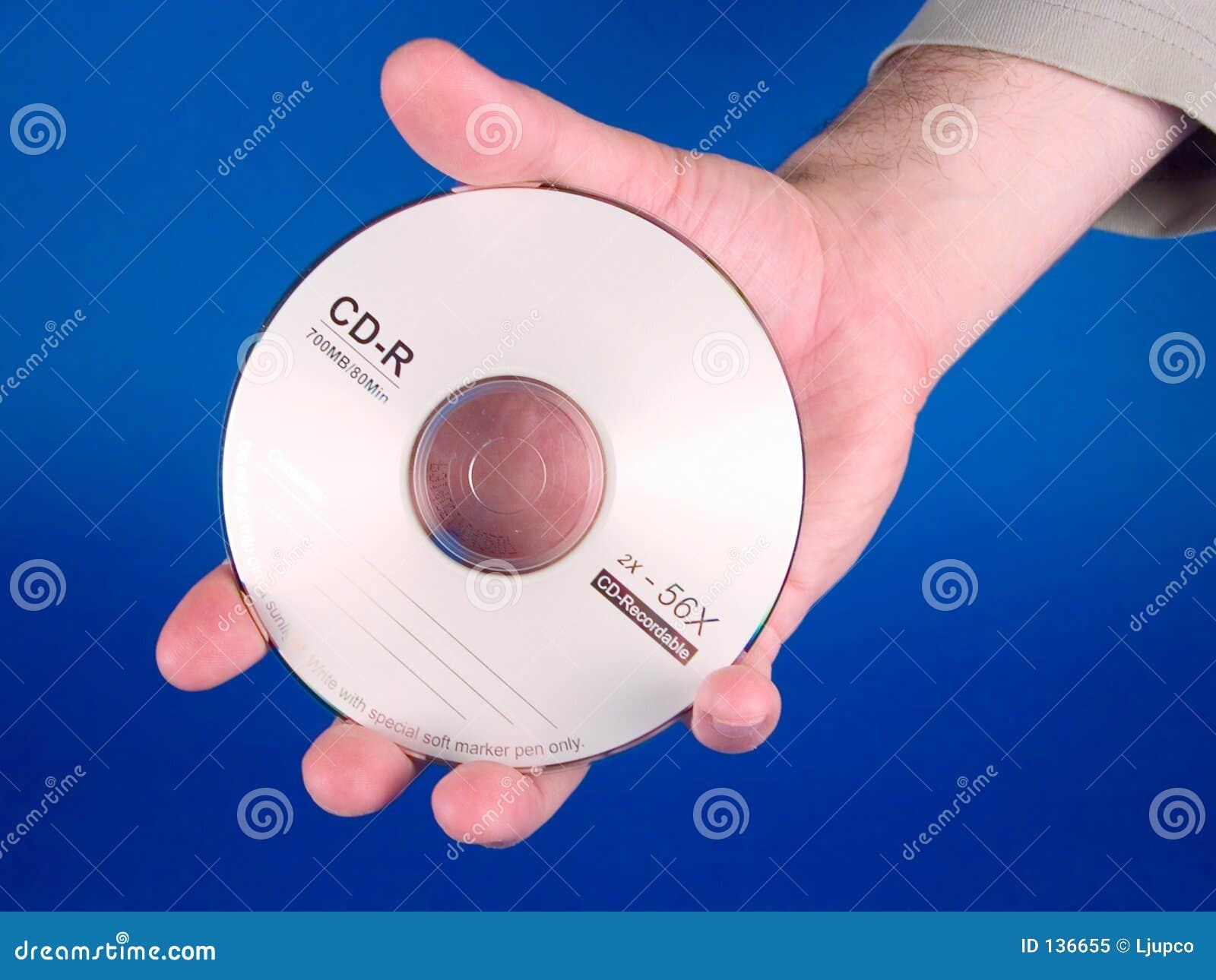 Ręka trzymająca cd