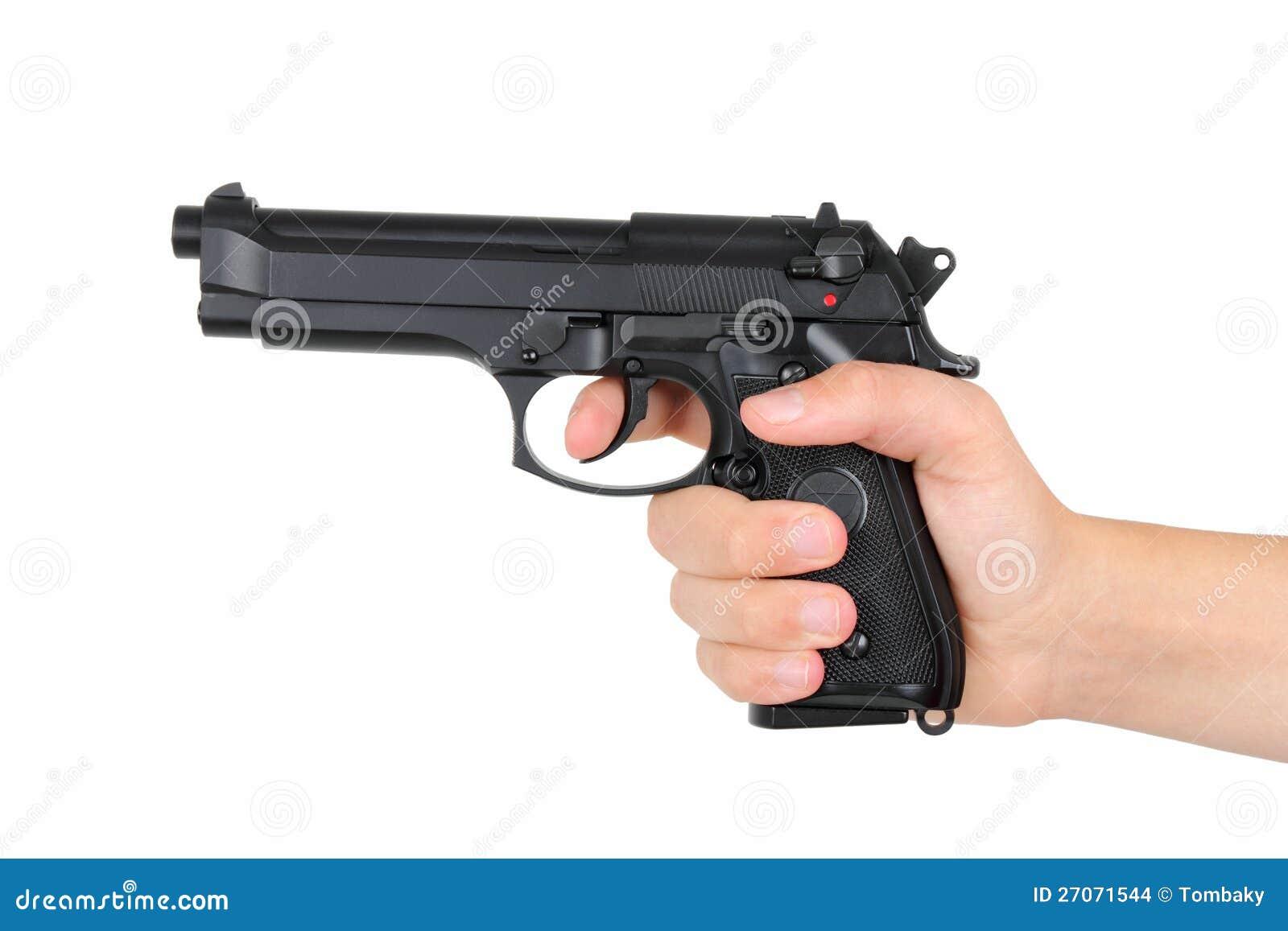 Ręka z pistoletem