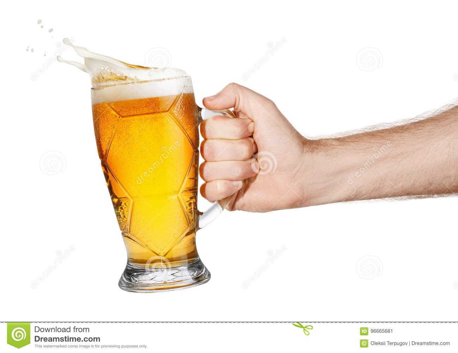 Ręka z piwem