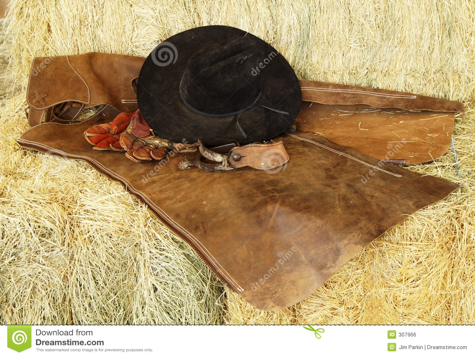 Rękawica kapeluszu ostrogi