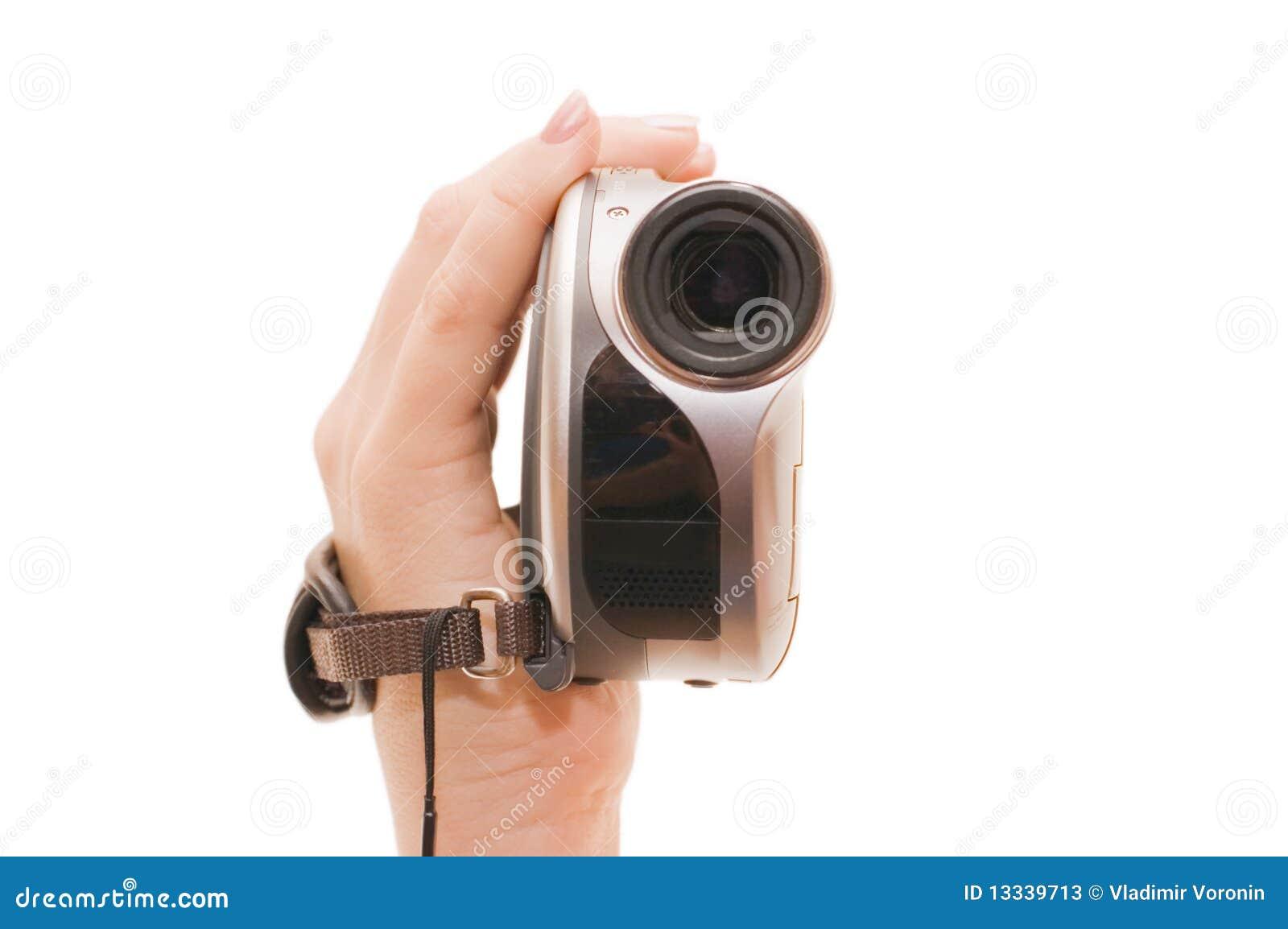 Ręki żeński videocamera