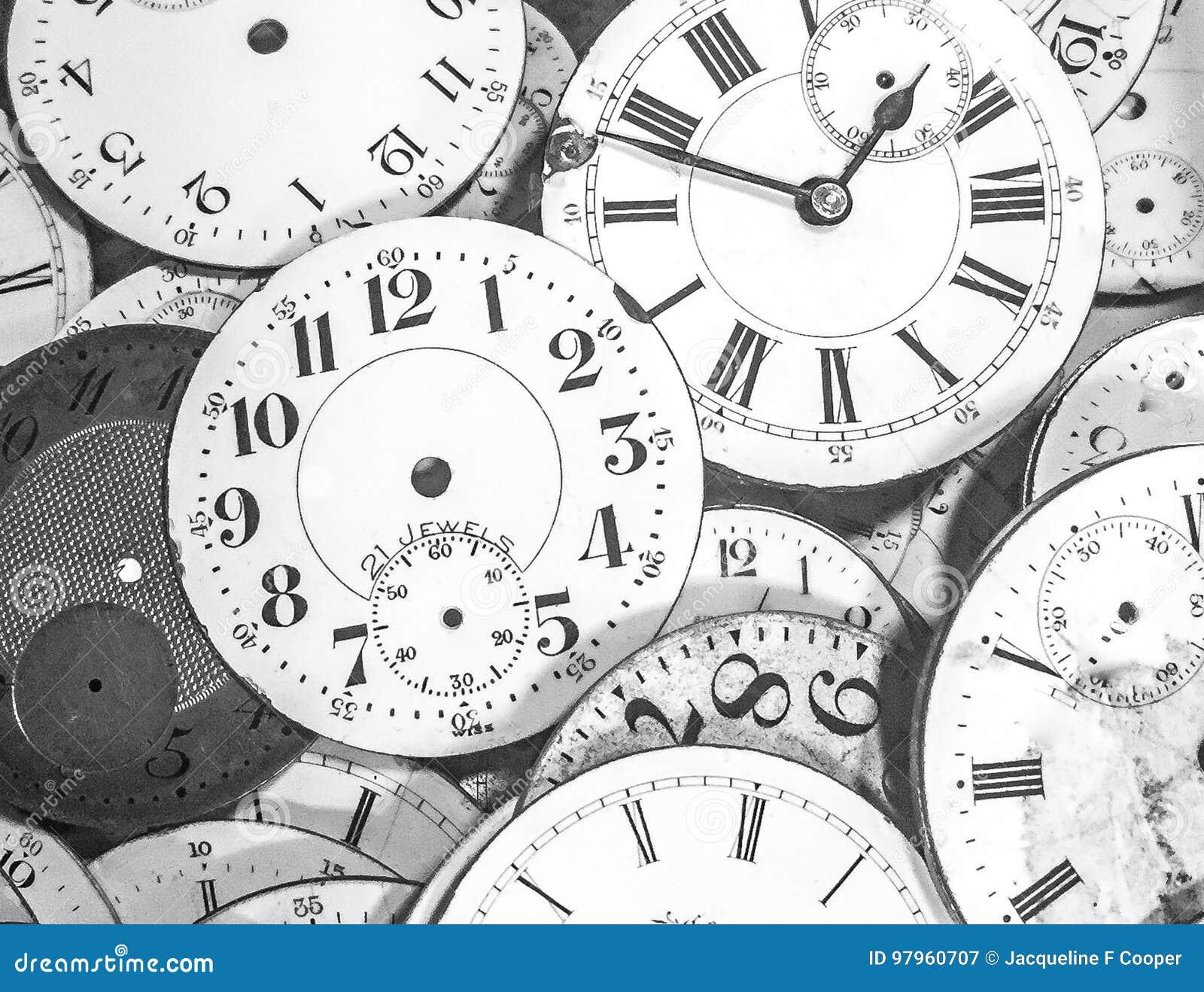 Ręki czas: Rocznik zegarowe twarze