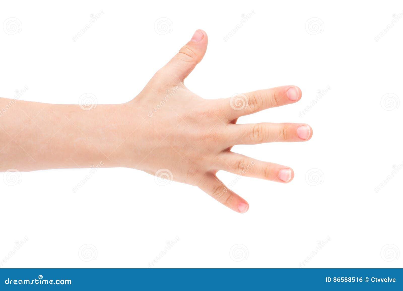 Ręki dziecko odizolowywający