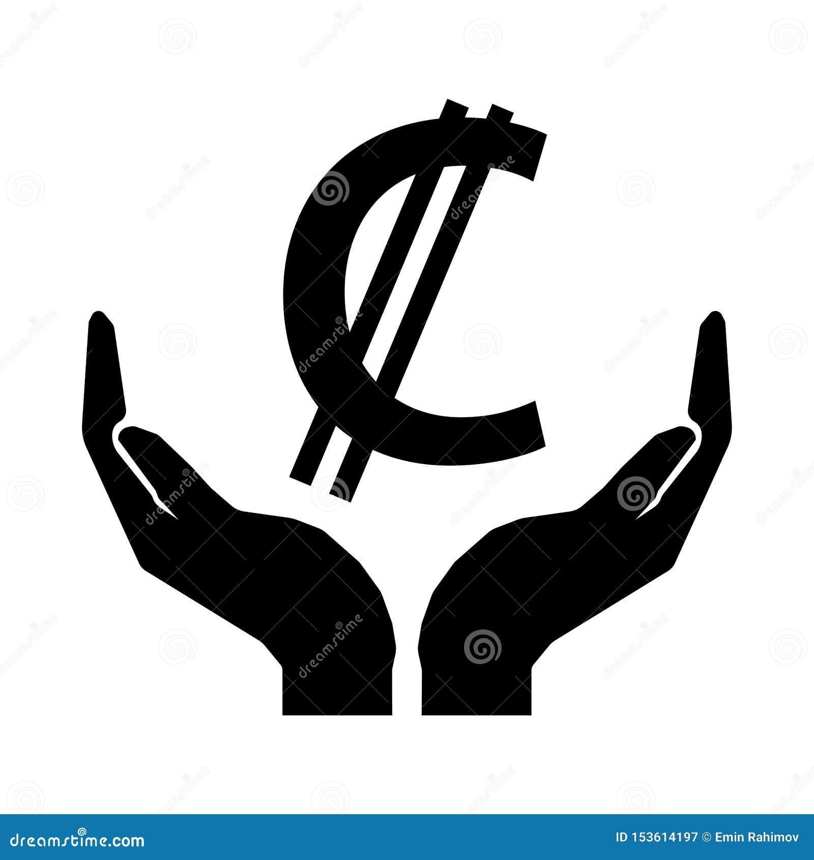Ręki i pieniądze waluty COSTA RICA dwukropka znak