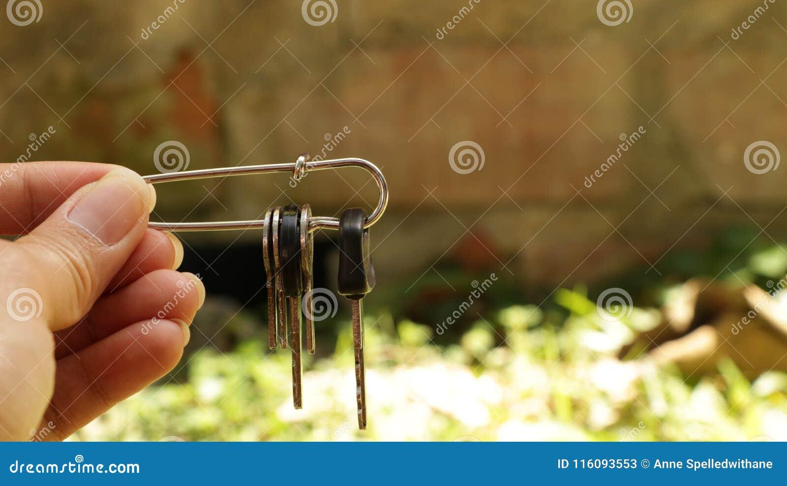 Ręki mienia klucze w Zbawczej szpilce