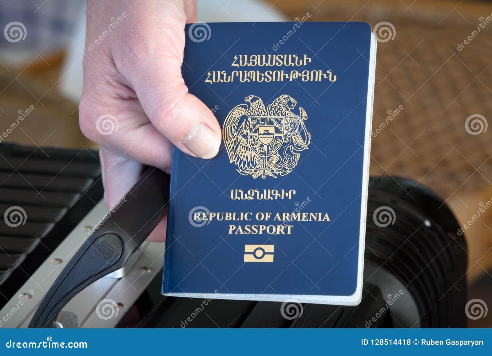 Ręki mienia republika Armenia paszport