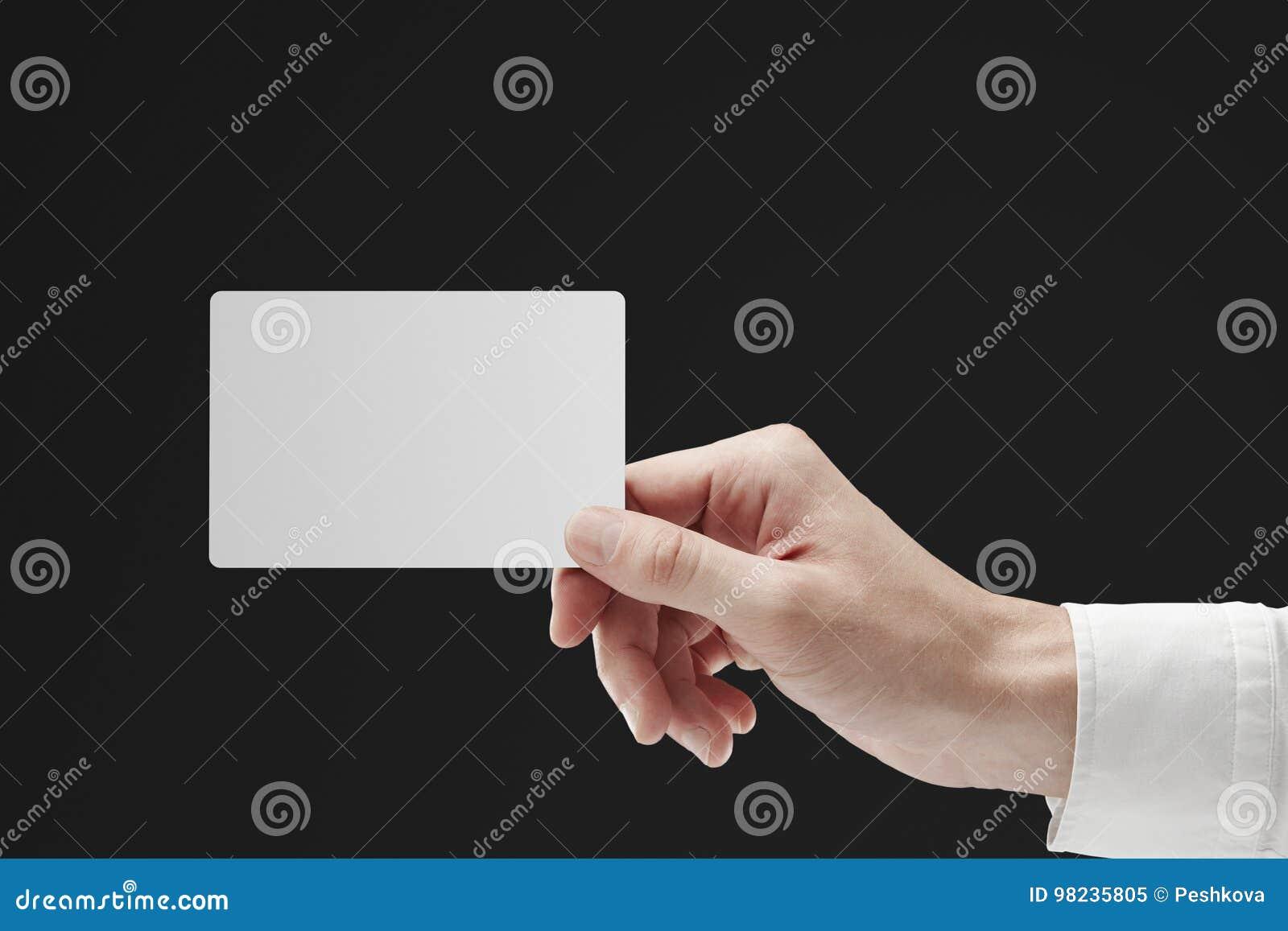 Ręki mienia wizytówka, ewidencyjny pojęcie
