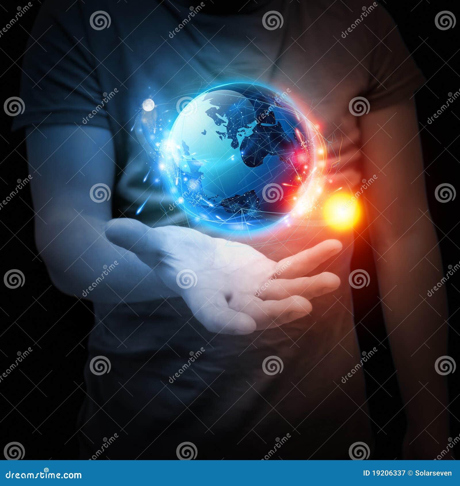 Ręki planety system twój