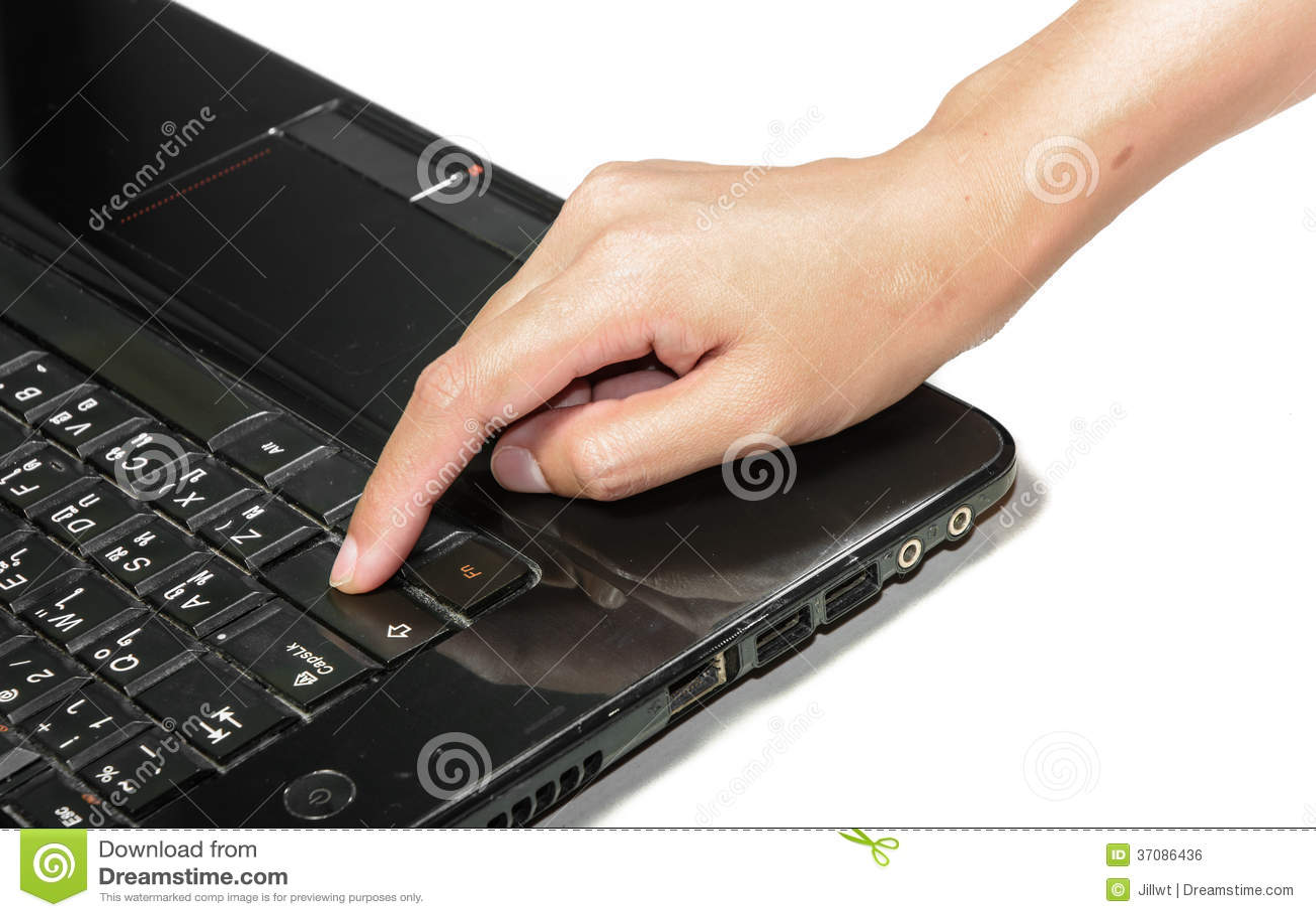 Download Ręki prasy przesunięcie zdjęcie stock. Obraz złożonej z wyznaczający - 37086436