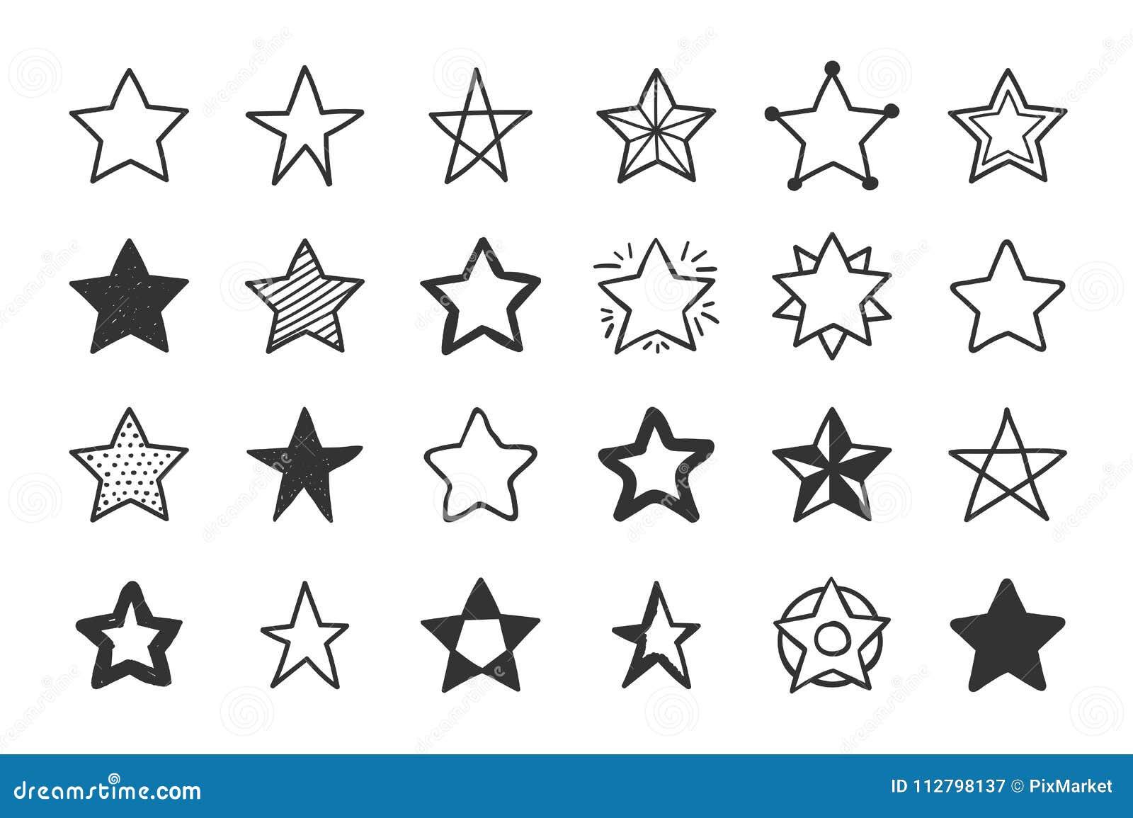 Ręki rysować gwiazdy